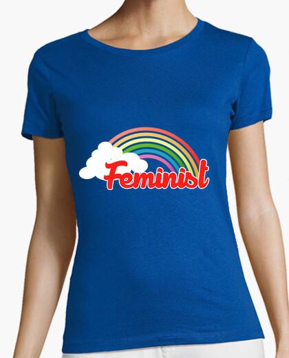 Camiseta arco iris feminista