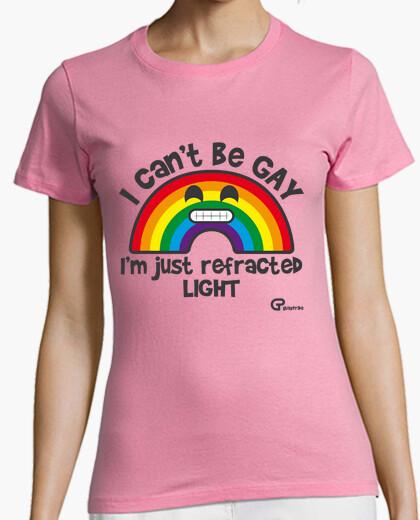 Camiseta Arcoiris gay (texto oscuro)