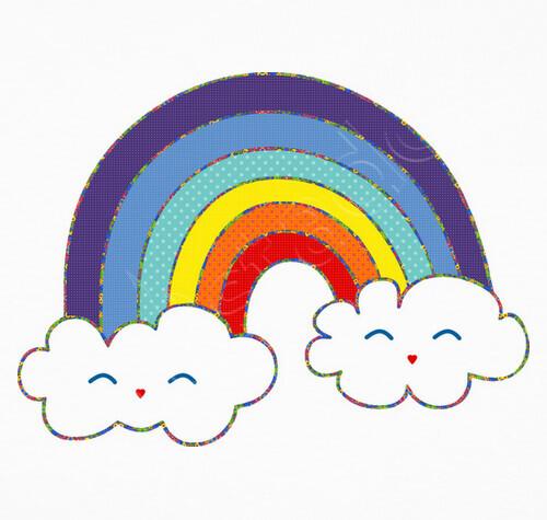 Vêtements Enfant Bébé Corps Arc En Ciel Blanc Kawaii 830830
