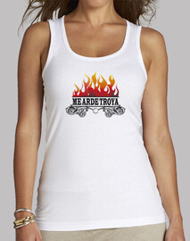 arde troya me. woman without sleeves, white
