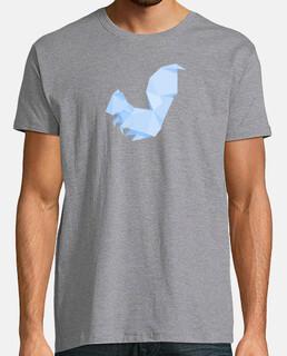 Ardilla azul. Aplícalo sobre diferentes colores y estilos de camiseta de niño y adulto
