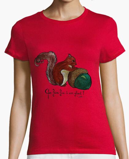 Camiseta ardilla camisa de la mujer, naranja calidad, alto