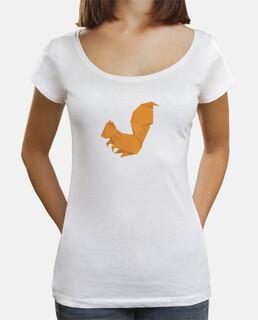 Ardilla naranja. Aplícalo sobre diferentes colores y estilos de camiseta de niño y adulto