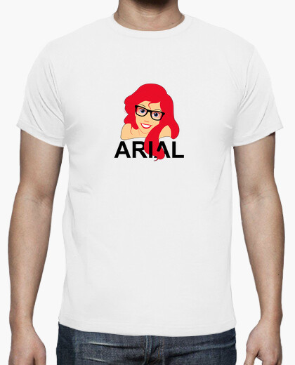 Arial ariel hipster t-shirt