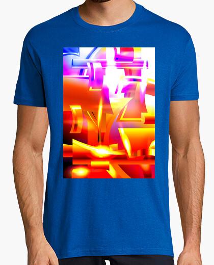 Camiseta Armadura Angelical Dorada - Arte Abstra