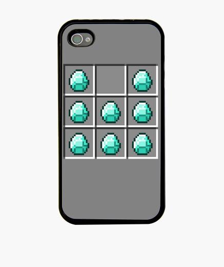Funda iPhone Armadura de diamantes - Minecraft
