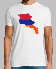 armenia, mappa, bandiera