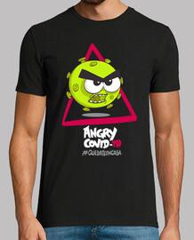 arrabbiato covid-19 rimane t-shirt ncas