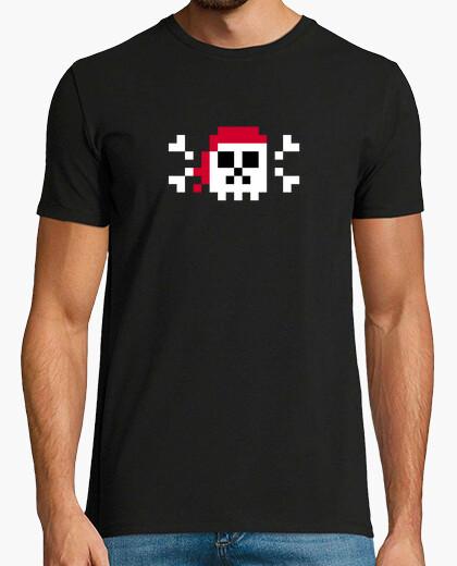 Tee Shirt Art Tête De Mort De Pixel Pirate Homme