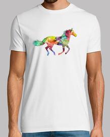 arte colore cavallo t-shirt bianca