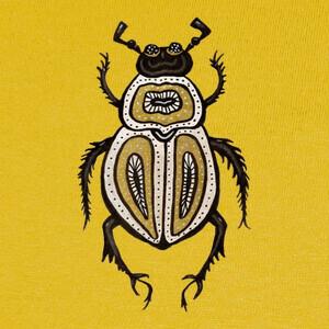 Tee-shirts arte de tinta decorativa de escarabajo