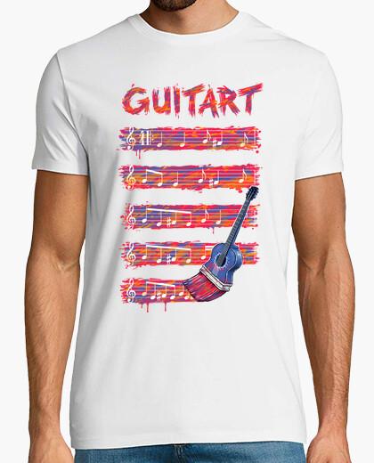 T-shirt arte della chitarra guitart
