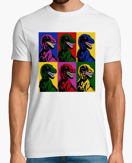 Camiseta arte pop de los dinosaurios