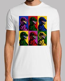 arte pop de los dinosaurios