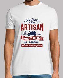 Artisan et motard
