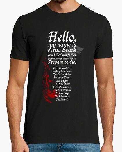 T-shirt arya stark lista - game of thrones