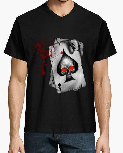 Hombre De Cerrado As Camiseta Corta Picas Manga Negro Cuello Pico qZt45