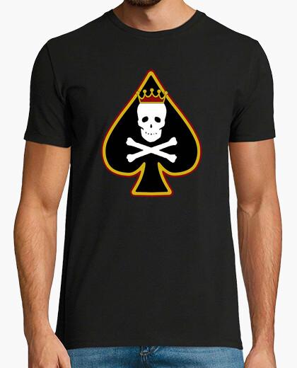 Camiseta AS DE PICAS ORO negro