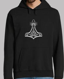 asatru mjolnir schwarzer sweatshirt