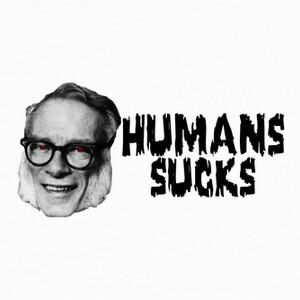 Camisetas Asimov - Human sucks b