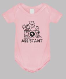 asistente - onesie rosado