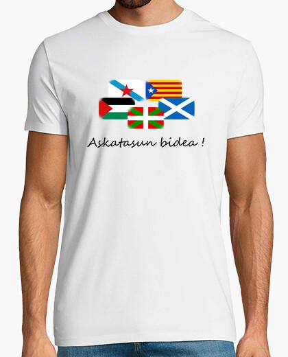 Camiseta Askatasun bidea beltz