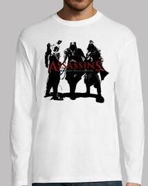 Assassin's creed. Manga larga blanca chico
