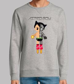 Astroboy Hombre, sudadera, gris vigoré