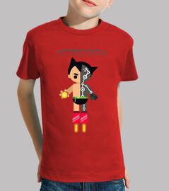 Astroboy Niño, manga corta, rojo