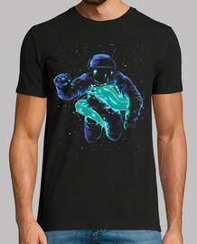 astronaut luminous fish