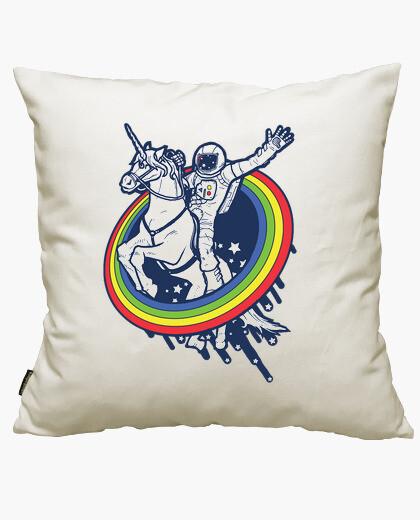 Funda cojín astronaut riding a unicorn