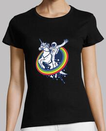 astronaut riding a unicorn