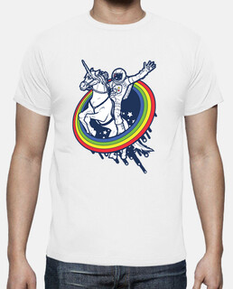 astronaut riding a unicorn