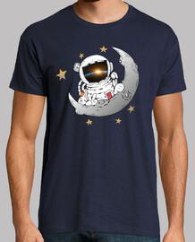 Astronauta mirando a la tierra