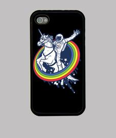 astronauta montando un unicornio