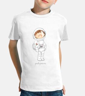 astronauta. t-shirt bambino