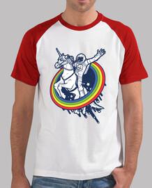 astronaute chevauchant une licorne