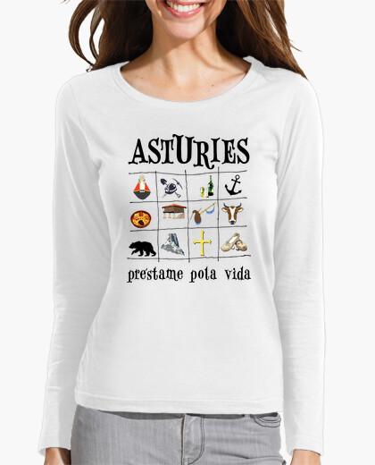 Asturies 2017 - Camiseta de chica de manga...
