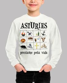 Asturies 2017 - Camiseta para niño de manga corta