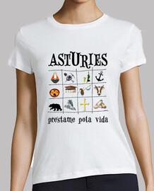 asturies 2017 - t-shirt fille manches courtes
