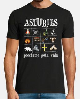 asturies 2017 dark background - short sleeve t shirt