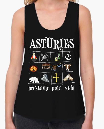 Asturies 2017 fondo oscuro - Camiseta de chica de tirantes