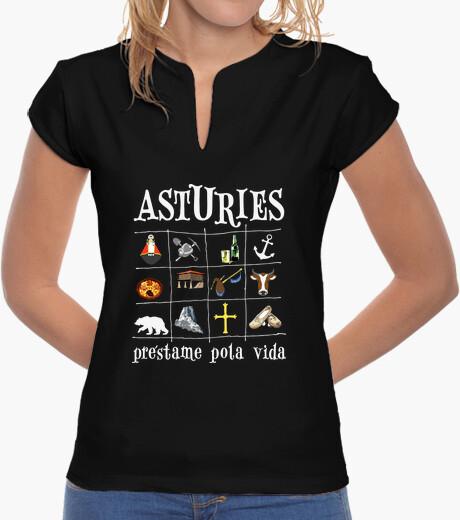 Asturies 2017 fondo oscuro - Camiseta de chica estilo chino