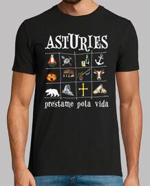 Asturies 2017 fondo oscuro - Camiseta de manga corta