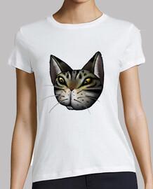 atigrado gato cara damas