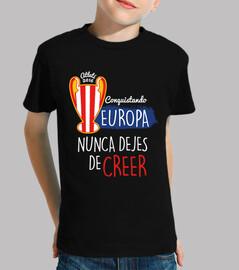 Atleti - Conquistando Europa (Niño) Fondo Oscuro