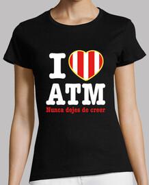 Atleti - I Love ATM Nunca Dejes De Creer (Mujer) Fondo Oscuro
