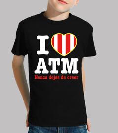 Atleti - I Love ATM Nunca Dejes De Creer (Niño) Fondo Oscuro