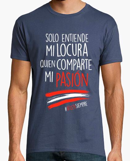 Camiseta Atleti - Locura (Hombre) Fondo Azul