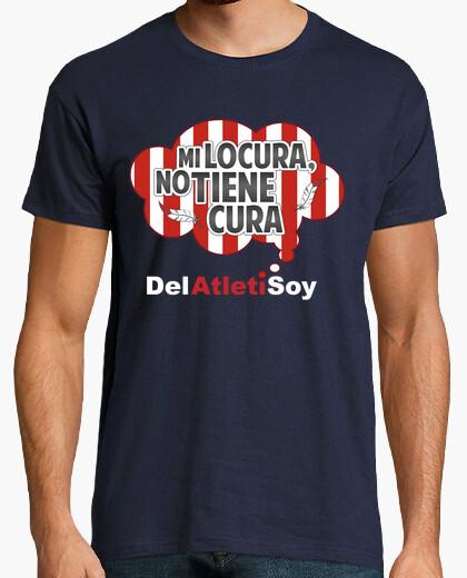 Camiseta Atleti - Mi locura no tiene cura (Hombre) Fondo Oscuro